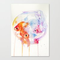 goldfish Canvas Prints featuring Goldfish by Ania