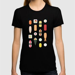 Sushi Pattern T-shirt