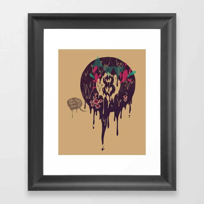 Bad omen framed art print by againstbound society6 for Sign of portent 3
