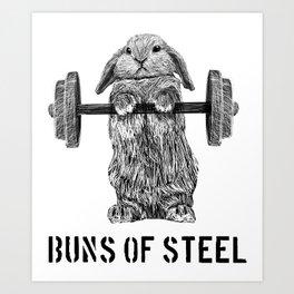 Buns of Steel Art Print