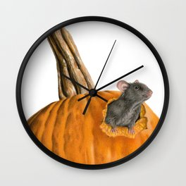 The Pumpkin Carver Wall Clock