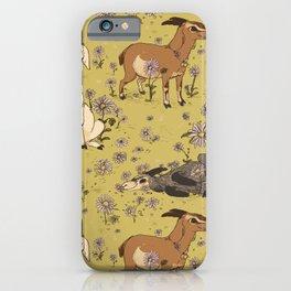 Summer Goat Pattern iPhone Case