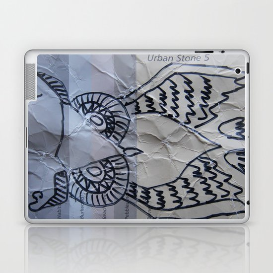 gray owl 02 Laptop & iPad Skin