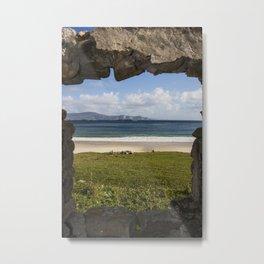 silence and solitude Keem beach Achill Island. Mayo, Ireland Metal Print