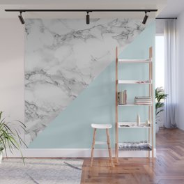 Marble + Pastel Blue Wall Mural