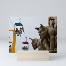 boardwalk gargoyles Mini Art Print