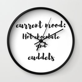 Current mood Wall Clock