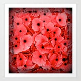 Veterans   Memorial Day   Remembrance Day   We Remember   Red Poppies   Nadia Bonello Art Print