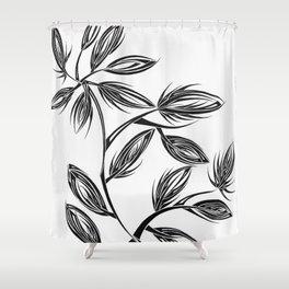 Flower Buds Shower Curtain