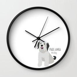 Paul Anka, the dog. Wall Clock