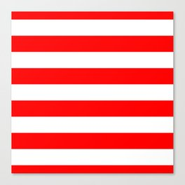 Australian Flag Red and White Wide Horizontal Cabana Tent Stripe Canvas Print