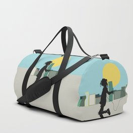 Spring in the city Duffle Bag