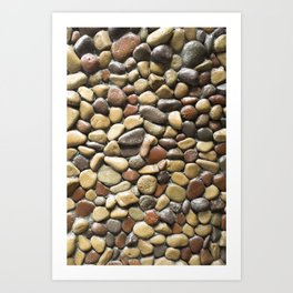 Wall pebble pattern Art Print