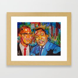 Malcolm X King Framed Art Print