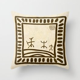 Ethnic 3 Canary Islands Throw Pillow