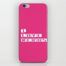 I Love Nerds iPhone & iPod Skin