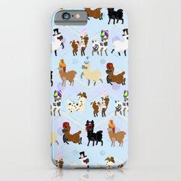 Llamas In Hats iPhone Case