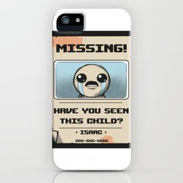 Missing Poster iPhone Case
