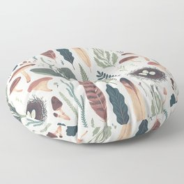 Forest Fall Pattern Floor Pillow