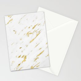 Vasia gold marble Stationery Cards