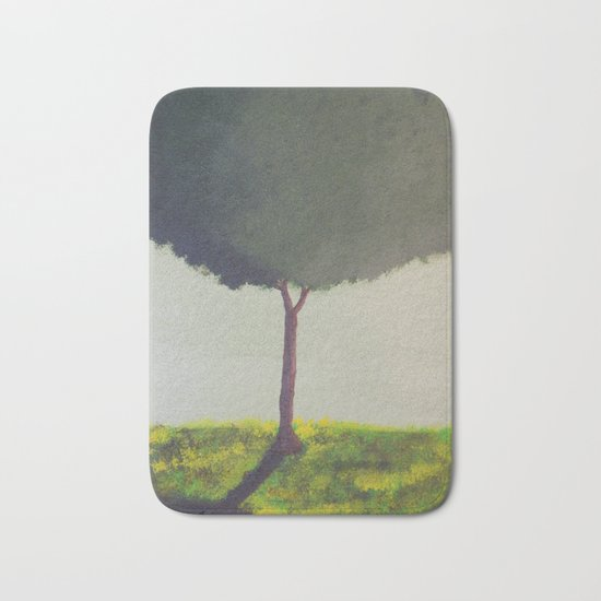 Green Tree Bath Mat