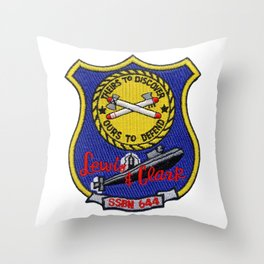 USS LEWIS AND CLARK (SSBN-644) PATCH Throw Pillow