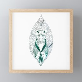 The Tribal Lioness Framed Mini Art Print