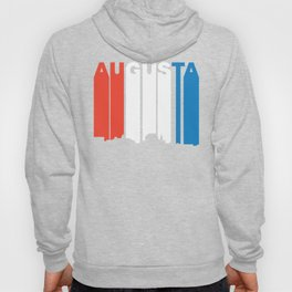 Red White And Blue Augusta Maine Skyline Hoody