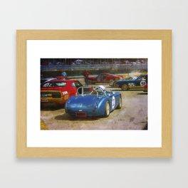 Austin Healey Waiting to Race Framed Art Print