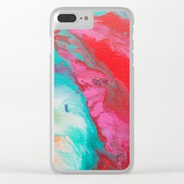 Abstract mixing of paints Clear iPhone Case