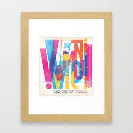 Veni, Vidi, Vici. Vomui. Framed Art Print