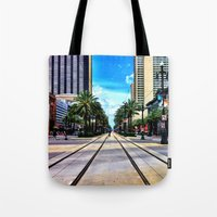 new orleans Tote Bags featuring New Orleans by Resistance