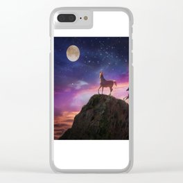 Moon struck Clear iPhone Case