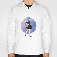 vocaloid Hoodies featuring Aoki Lapis - VOCALOID Gakuen by Tenki Incorporated