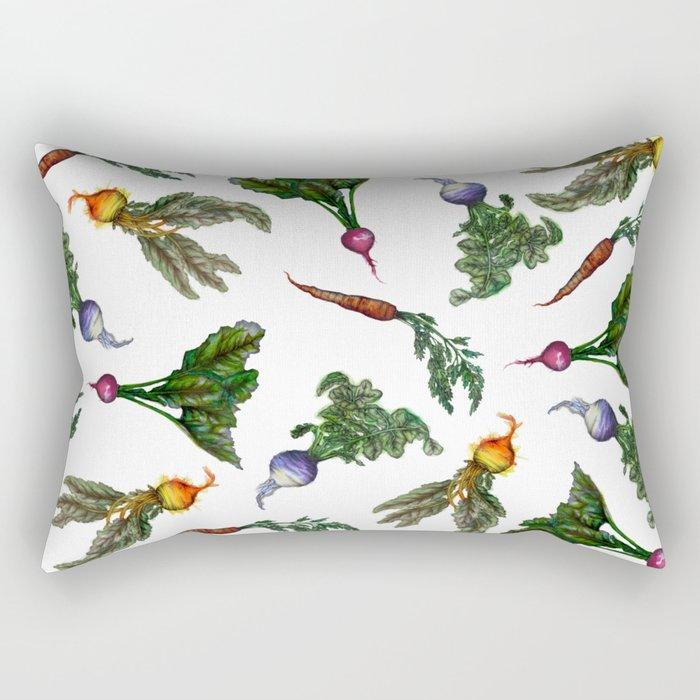 Watercolor Veggies Rectangular Pillow