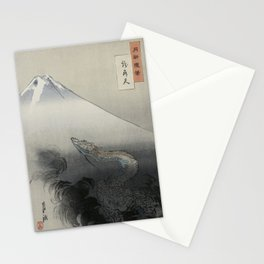 Dragon Rising to the Heavens at Mount Fuji by Ogata Gekko Stationery Cards