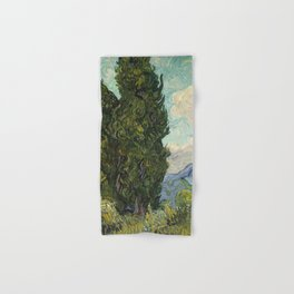 Cypresses by Vincent van Gogh Hand & Bath Towel