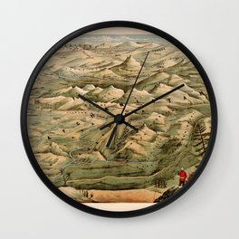 Map Of Afghanistan 1910 Wall Clock