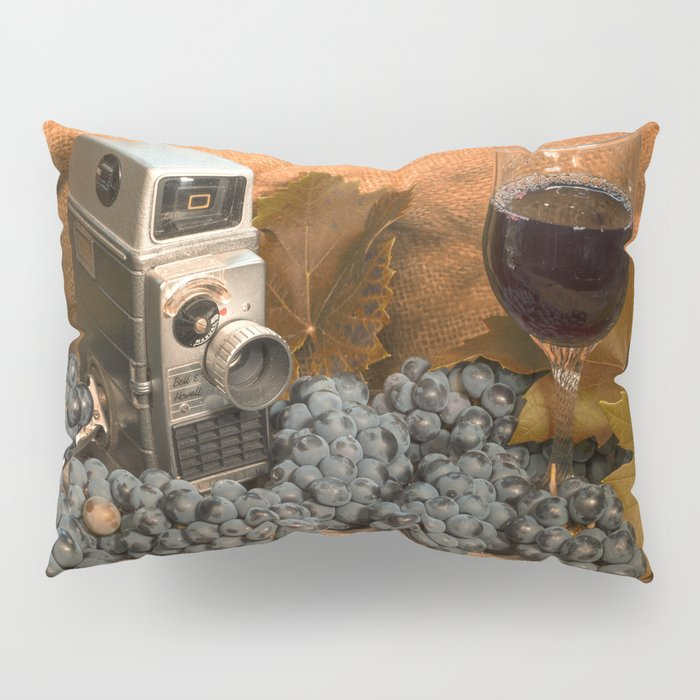 Bell and Howell with Black Grapes Pillow Sham