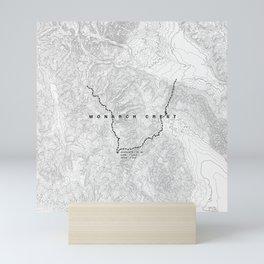 Monarch Crest Trail Map Mini Art Print