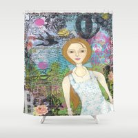 belle Shower Curtains featuring Belle by inara77
