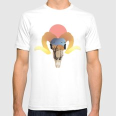 Ram of the Dunes White Mens Fitted Tee SMALL