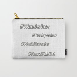 Travel Hashtags Carry-All Pouch