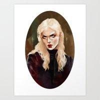 warrior Art Prints featuring Warrior by Feline Zegers