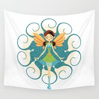 doll Wall Tapestries featuring Fairy Doll by Enrique Valles