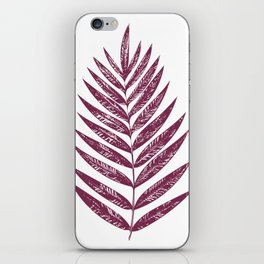 Simple Botanical Design in Dark Plum iPhone Skin