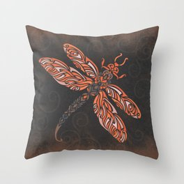 Dragonfly's Night Flight Throw Pillow