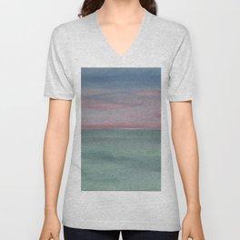 Horizon, pink/green Unisex V-Neck