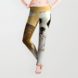 Saint Bernard Puppy Leggings