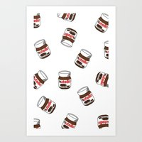 nutella Art Prints featuring Nutella by Iotara